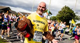 Team Dogs Trust Runner at the Great North Run