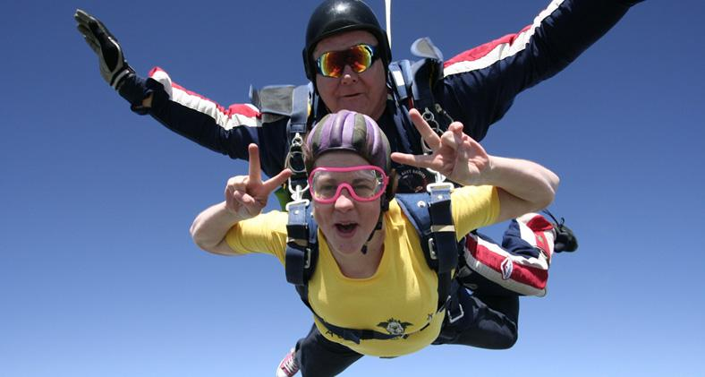 Sky diving to raise money for Dogs Trust