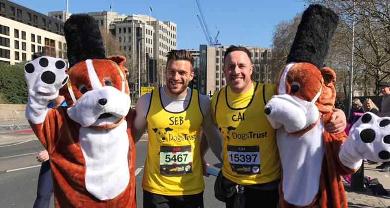 Dogs Trust runners at London Landmarks Half Marathon 2018