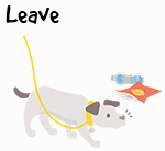 Illustration of dog sniffing rubbish
