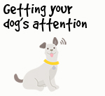 Illustration of dog listening