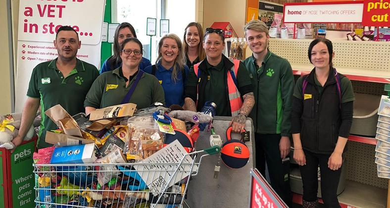 Dogs Trust Bridgend staff at Pets At Home