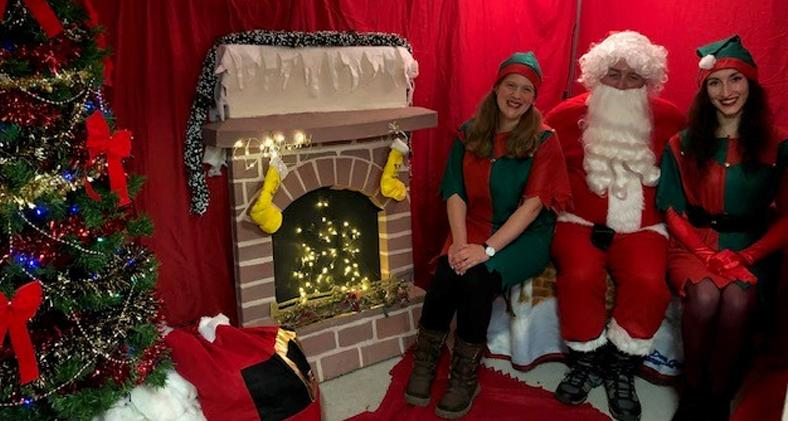 Santa and Helpers at Canterbury Dogs Trust annual Christmas Fair