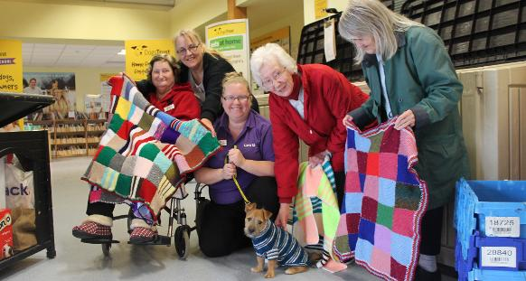 Knitting Club London : Dogs in west london gifted blankets and jumpers by