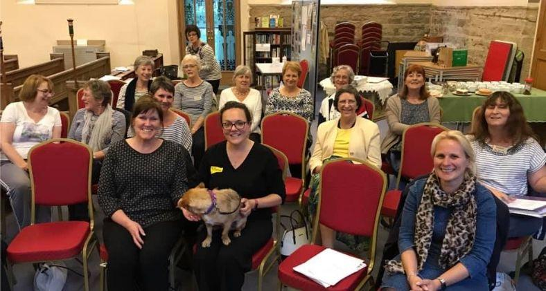 Coco from Dogs Trust Leeds meets local community groups.