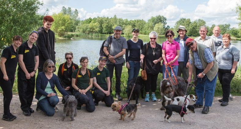 A group of Dogs Trust Loughborough volunteers