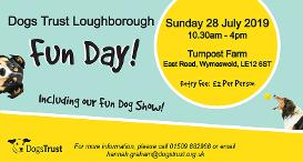 Loughborough Dogs Trust Fun Day advert