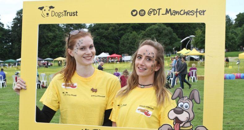 Two volunteers at Dogs Trust Manchester's Fun Day
