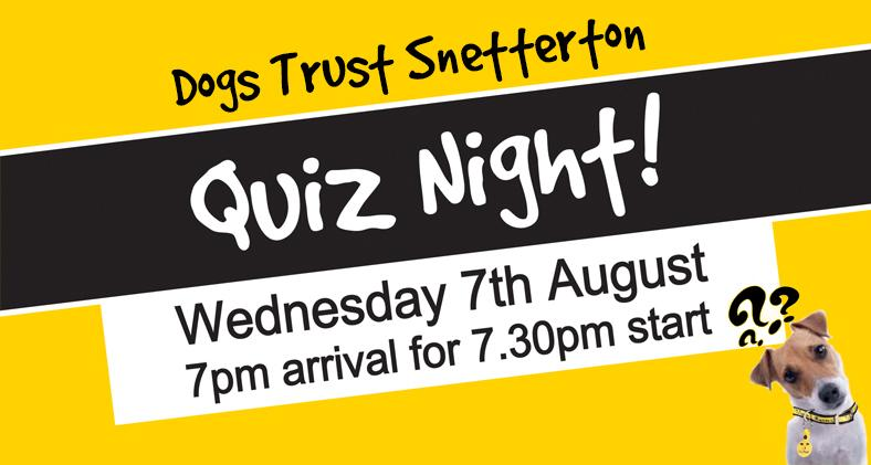 Dogs Trust Snetterton Quiz Night: Wednesday 7th August
